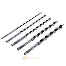 5PCS 230mm 9'' Extra Long Brad Point Wood Drill Bit Set Steel Woodworking Tool