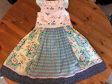 Matilda Jane Platinum Hawaii Flutter Tank Dress Size 10 Euc #2/10 🐰Easter