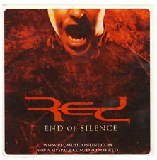 RED End Of Silence Ltd Ed Discontinued RARE Sticker +FREE Rock Metal Stickers!