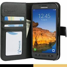 Black Flip Wallet Cover Case for Samsung Galaxy S7 ACTIVE Phone Model