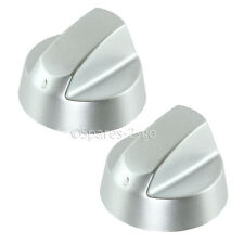 2 x HOTPOINT CANNON Silver Grey Oven Cooker Hob Control Knob Switch Adaptor Kit
