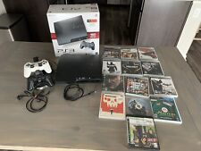 Sony PlayStation 3 Slim 160Gb Charcoal Black Console Bundle - with 13 games