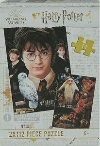 HARRY POTTER Wizarding World 2 x 112 Piece Fun Kid's Jigsaw Puzzles Hedwig - NEW