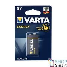 VARTA 9V ENERGY BATTERY ALKALINE 9V E-BLOCK 4122 MN1604 TRANSISTOR EXP 2023 NEW