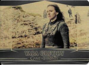 Game of Thrones : Valarian Steel  gold parallel base #60 (012/100) Yara Greyjoy