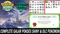 Pokemon Sword and Shield Home Full Galar Pokedex & Crown Tundra ULTRA SHINY!!
