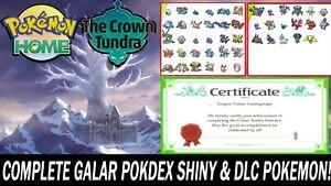Pokemon Sword and Shield Home Full Galar Pokedex & Crown Tundra ULTRA SHINY!!