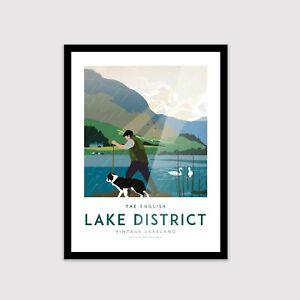 Lake District, Vintage poster, Lake District print, Retro print