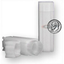 (3) COINSAFE DIME SQUARE TUBE COIN CLEAR PLASTIC STORAGE HOLDERS