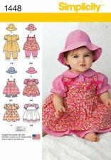 Simplicity Sewing Pattern 1448 Infant Babies Dress Panties Hat Sizes XS - L