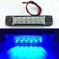 "6/"" x 1/"" Red LED RV Utility Strip LightSlim LineBoat Light12 LEDs2 pk"