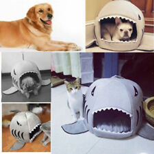 Cute Washable Shark Mouth Pet Dog Cat Kennels Indoor Kitten Puppy Sofa Bed Gifts