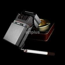 Gray Aluminum Metal Cigar Cigarette Box Holder Pocket Tobacco Storage Case US