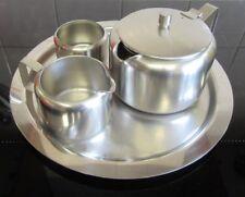Old Hall Stainless Steel 4 Piece Tea Set 1.5PT Tea Pot Jug Sugar Bowl & Tray