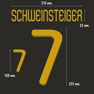 Schweinsteiger 7 Germany Away football shirt 2010 - 2011 FLEX NAMESET NAME SET
