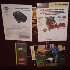 "Toro 21"" Self Propelled Key-Lectric Super Recycler Mower Owner's Manuals"