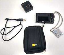 Sony Cyber-Shot DSC-W800 20.1MP Digital Camera 720P 5x Zoom Black w/ Case Logic