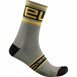 Castelli Prologo 15 Bicycle Cycle Bike Socks Bark Green