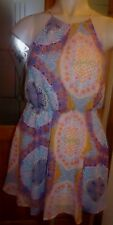 ATMOSPHERE MULTI COLOUR PRINT STRAPPY LINED CHIFFON BLOUSON DRESS SIZE 16 BNWOT