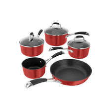 Stellar 3000 Induction Non Stick 5 Piece Pan Set - Ruby Red - S3C1R