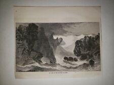 Grinnell Glacier Montana 1864 Hw Sketch Print Rare!