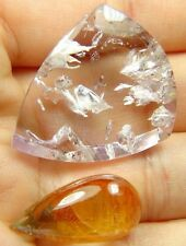 Q-105 Buy a Super seven 7,melody stone 59.10ct 26x31x10mm,get one drendrite free