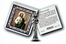 St. Jude Metal  Pocket Statue w/ Prayer Card Patron of Hopeless Causes