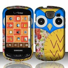 Blue Yellow Owl Design Hard Case Protector Cover For Samsung Brightside U380