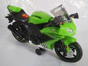 Ninja Wheelie Time ZX-10R Kawasaki Motorcycle Green Toy State Industries