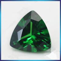 6X6mm AAAAA Green Sapphire Gems 1.21ct Trillion Faceted Cut VVS Loose Gemstone