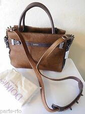 New Botkier Leroy Crossbody Satchel Handbag, Purse - Brown Calf Hair