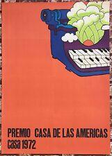 Premios Casa De Las Americas Cartel Poster Habana Cuba Casa 1972