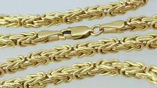 Königskette vierkant 585 echt Gold gelbgold Herren Halskette Damen Collier kette