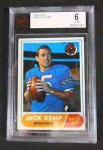 1968 Topps #149 Jack Kemp football card Grade BVG 6 EX-MT Buffalo Bills Politics