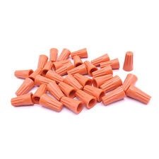 20 pc Orange P2 Screw On Nuts Standard Type Twist On Barrel AWG Wire Connectors