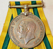 WW1 TWICE WOUNDED TERRITORIAL SERVICES WAR MEDAL 1974 PARSONS VILLERS BRETONNEUX
