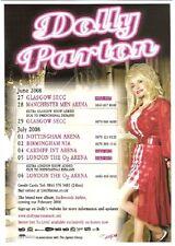 """DOLLY PARTON 2008 TOUR  UK FLYER / mini Poster 8x6"""""""