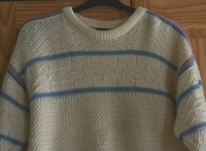 NWOT DALE OF NORWAY MEN'S PURE WOOL CREW NECK SWEATER JUMPER SIZE L