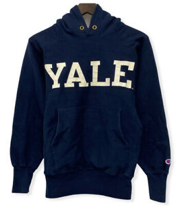 Vtg Champion Reverse Weave Yale Ivy League 90's Men's XS/S Hoodie Sweatshirt USA
