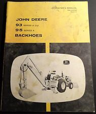 JOHN DEERE SERIES 93 & 95 A BACKHOES OPERATORS MANUAL OM-U44762 ISSUE G-8 (160)