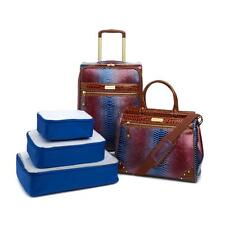 Samantha Brown Embossed Ombré 5-piece Luggage Set-ROYAL BLUE