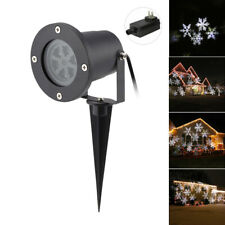 Star Snowflake Projector White Moving Led Laser Party Light Christmas Lightshow