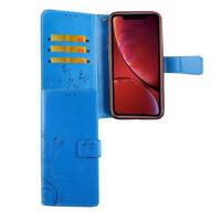Apple iPhone XR Hülle Case Handy Cover Schutz Tasche Flip Schutzhülle Etuis Blau