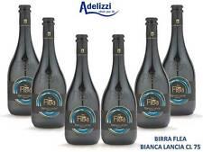 6 Bottiglie FLEA BIANCA LANCIA CL. 75 BIRRA ARTIGIANALE ITALIANA Chiara Umbra