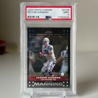 "2007 Topps Chrome #TC96 Peyton Manning ""League Leaders"" PSA 9 MINT - POP 4"