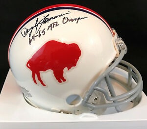 Daryle Lamonica Autographed Buffalo Bills Mini With 64-65 AFL Champion Inscriptn