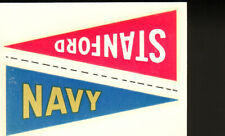 1960 Fleer College Pennant Decals NAVY & STANFORD Football Card