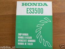 HONDA ES3500  SHOP MANUAL FACTORY BOOK GENERATOR POWER WERKSTATT