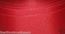 3 metres 10mm wide RED SOLID GROSGRAIN RIBBON CRAFT MILLINERY TRIM HAIR BOWS