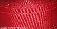 3 METRI larghezza 10mm Solido Rosso NASTRO GROS GRAIN Craft modisteria Tagliare I Capelli Fiocchi